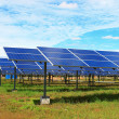 Solar station in green environment — Stock Photo