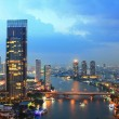 Bangkok city at twilight — Stockfoto