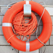 Stock Photo: Life preserver floating