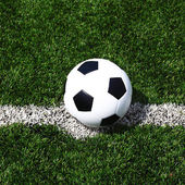 Futbol futbol alanı stadı çim çizgi topu arka plan dokusu — Stok fotoğraf