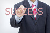 Business man writing success concept — Stock Photo