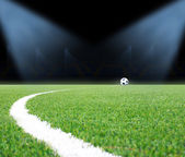 Soccer field with the lights — Stock Photo