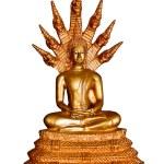 Thai style gold buddha statue isolated on white, Thailand — Stock Photo #13063899