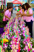 Loy Kratong festival 2011 preparation, Rayong town, Thailand — Stock Photo