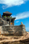 View to the Tanah Lot temple. Bali island, indonesia — Stock Photo