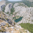 Mountains in Omiš, croatia near the coast — Stock Photo
