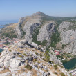 Omiš in croatia - View from fortica starigrad — Stock Photo
