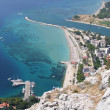 Omiš in croatia - Beach — Stock Photo