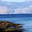 Croatia- dalmatia coast view from the island brac — Stock Photo