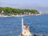 Beach Bacvice in Split - croatia — Stock Photo