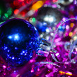 Blue cristmas ball — Stock Photo