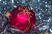 Red cristmas ball — Stock Photo