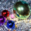 Christmas balls with tinsel — Stock Photo #13161510