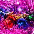 Christmas balls with tinsel — Stock Photo #13161663