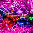 Christmas balls with tinsel — Stock Photo #13161667