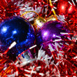 Christmas balls with tinsel — Stock Photo #13161701