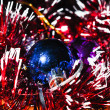 Christmas balls with tinsel — Stock Photo #13161707