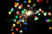 Christmas sparkler — Stock Photo