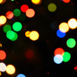 Colorful  bokeh of Christmas lights — Stock Photo