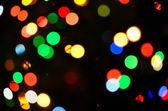 Colorful bokeh of Christmas lights — Stock Photo