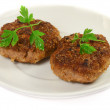 Isolated cutlet - Stock Photo