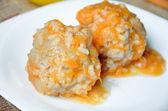Roasted meatballs — Stock Photo