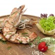 Grilled shrimp - Stock Photo