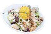 Salad with seafood — Stock Photo