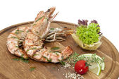 Grilled shrimp — Stockfoto