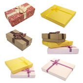 Collection boxes for gifts — Stock Photo
