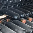 Cellars with wine bottles - Foto Stock