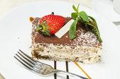 Pezzo di torta alla crema — Foto Stock