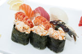 Japanese sushi fish and seafood — Stock Photo