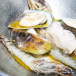 Cooking seafood - Stock Photo
