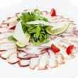 Carpaccio of octopus — Stock Photo