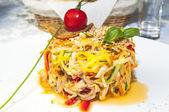 Salad greens and vegetables — ストック写真