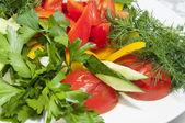 огурцы и помидоры — Стоковое фото