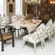 Dining table and chairs — Stock Photo #16310195