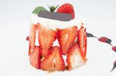 Sobremesa cremosa de morango — Foto Stock