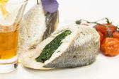 Baked fish — Stockfoto