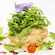 Stock Photo: Salad with shrimp and arugula