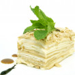 Stock Photo: Piece of layer cake