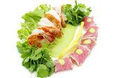 Shrimp and tuna — Stock Photo