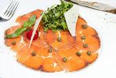 Carpaccio de salmón — Foto de Stock