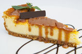 A piece of cheese cake — Stock Photo