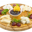 Stock Photo: Plate of cheese