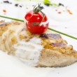 Baked fish fillets - Stock Photo