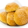Bun with sesame seeds — 图库照片