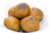 Buns with with poppy seed — Stock Photo