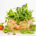 Salad with shrimp and arugula — Stock Photo #22093857